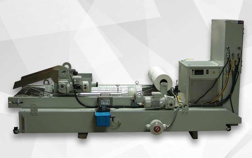 Paperband filter with magnetic separator, chiller and heat exchanger for aerospace part grinding
