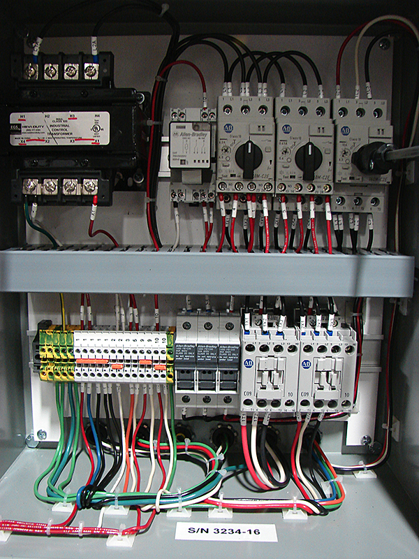 Paperband filter control AC control voltage